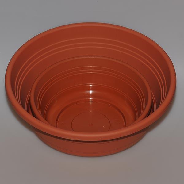 Round Container, brown, 25 cm diameter