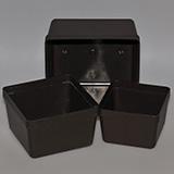 Vierkant Schale, braun, 13 x 13 x 9 cm, 10 Stück
